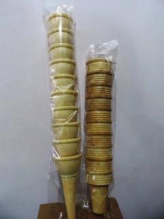 Jual Cone Waffle Wafel Cake Gocit Kerupuk Ice Cream Es Krim Aneka Bentuk dan Jenis